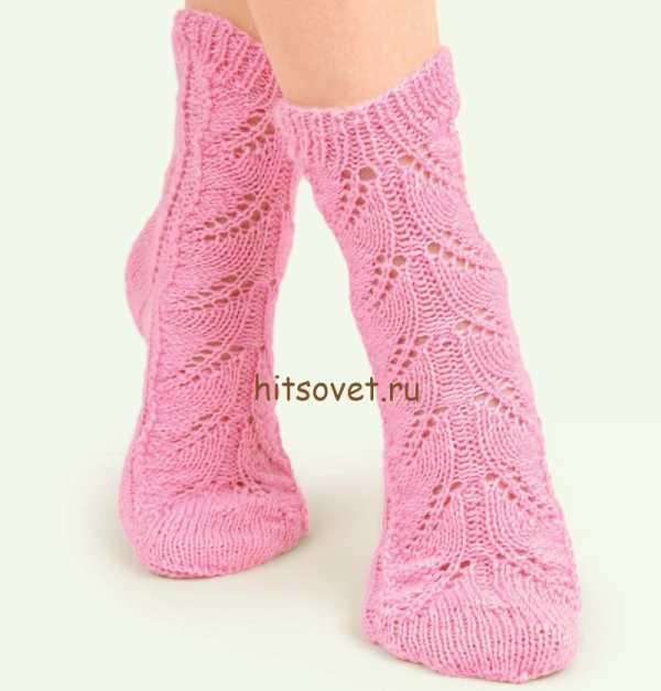 Ажурные носочки спицами схема 782