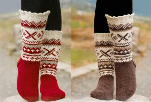 Вязаные носки с орнаментом спицами со схемами фото 201