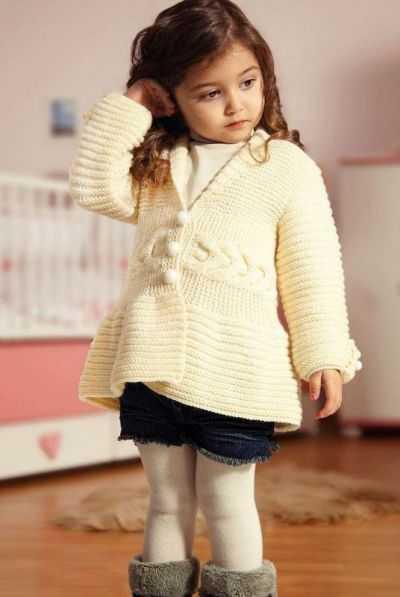 детские кардиганы для девочек спицами схемы