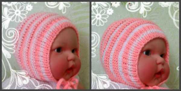 детские шапочки спицами с описанием для мальчиков до года