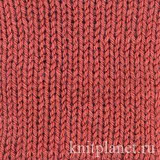 двойная резинка спицами схема вязания