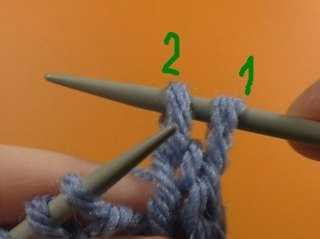 эластичное закрытие петель резинки 1х1 спицами