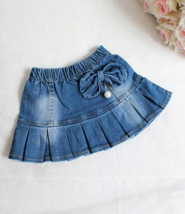 Юбки для девочек из старых джинсов сшить 595