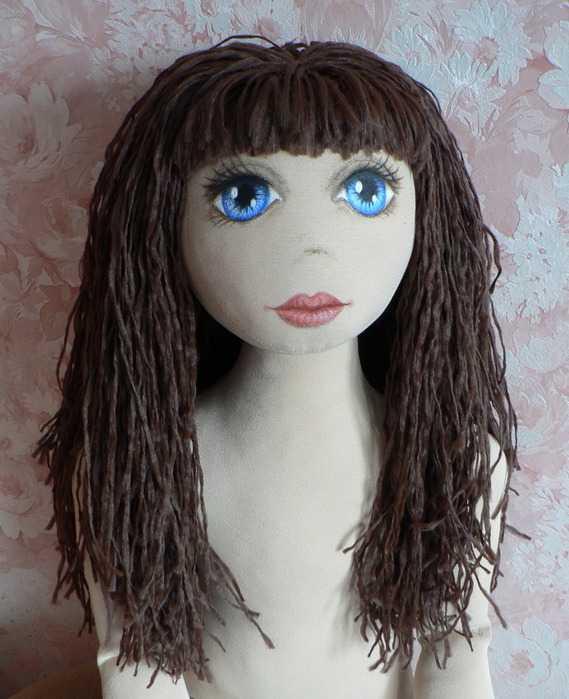 Как сделать волосы тряпичным куклами 947