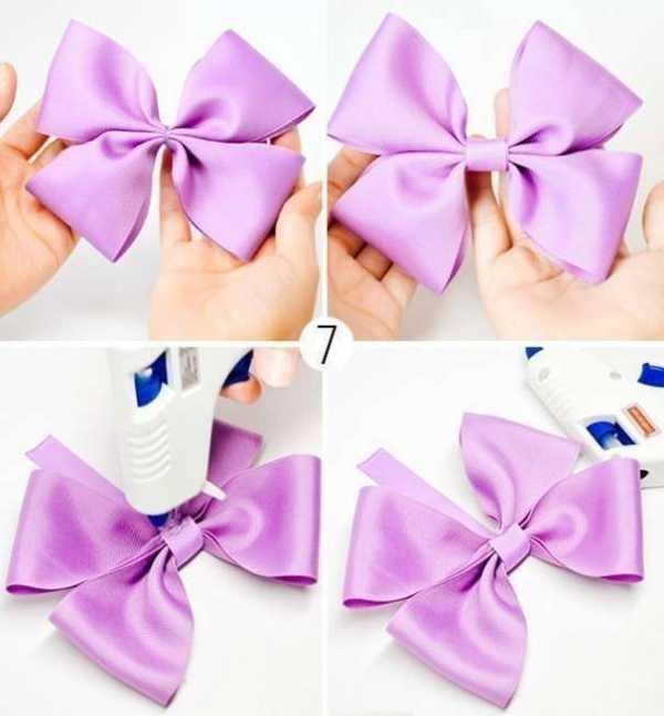 Как сделать простые банты из лент своими руками