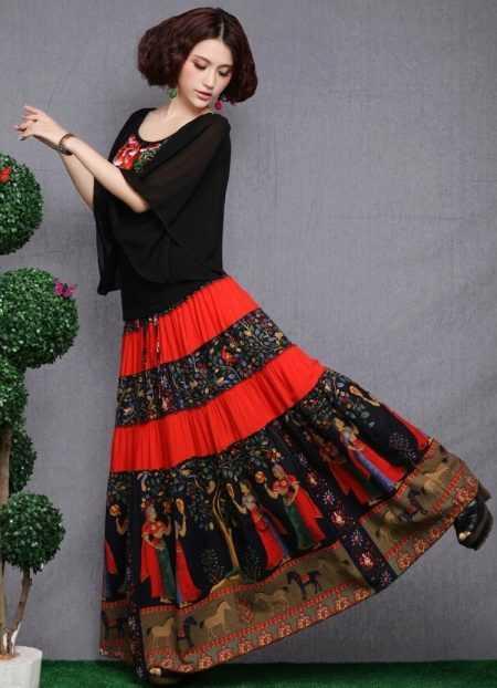 6d04630d44d Как сшить цыганскую юбку своими руками выкройки