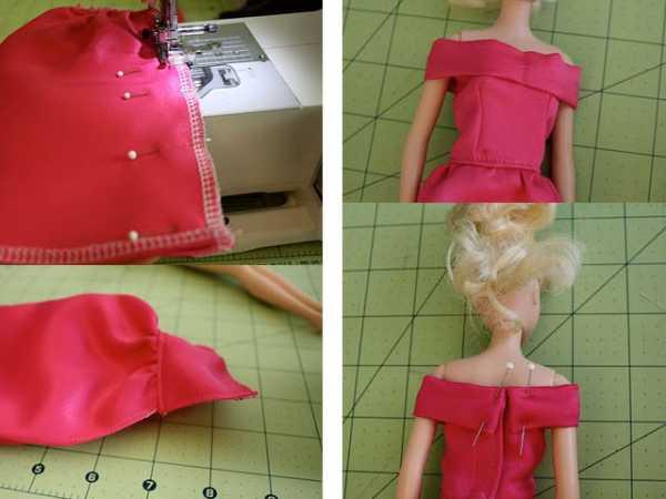 Платье для барби сшить своими руками легкое 377
