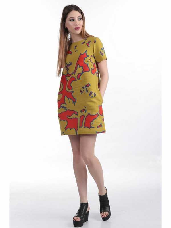 f96e079e243a Простое платье для повседневного ношения с ярким, оригинальным принтом