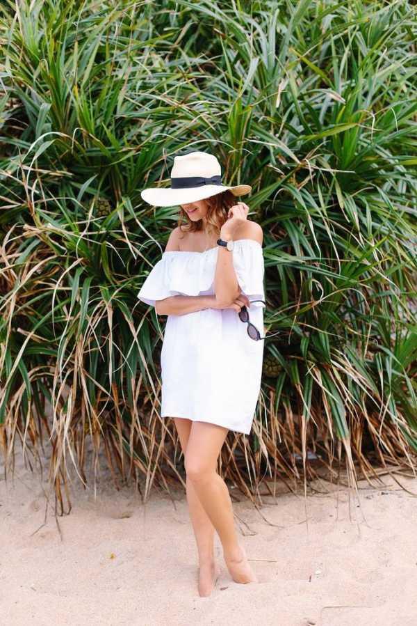 a054ed3675a Как сшить летнее платье с воланом на плечах