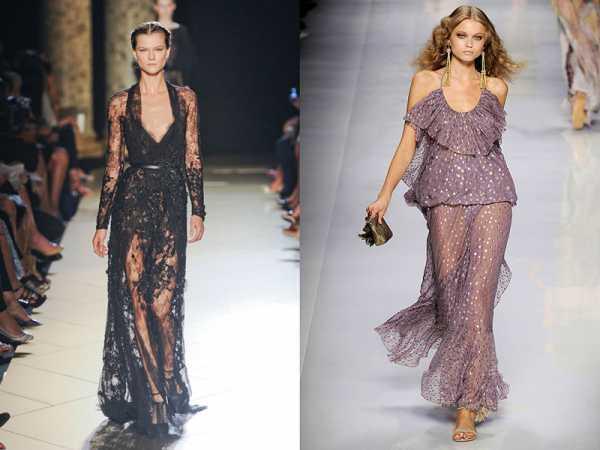 e1e7638450b Вечернее платье с прозрачным низом. По сути это наряд с двойной юбкой.  Первая юбка (она может быть верхней или нижней) выполняется из обычной  ткани