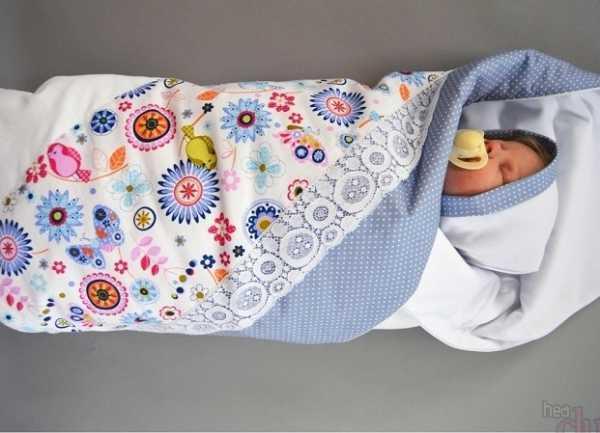 как сшить одеяло конверт на выписку