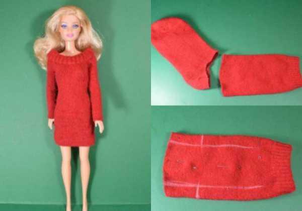 Как легко сшить платье для куклы барби своими руками