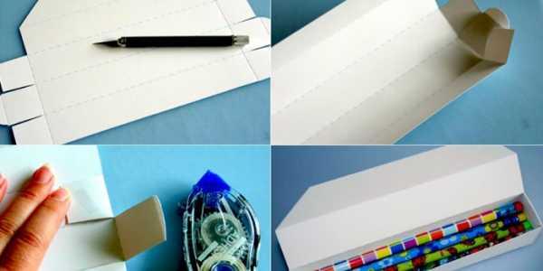 Как из картона сделать пенал для 781