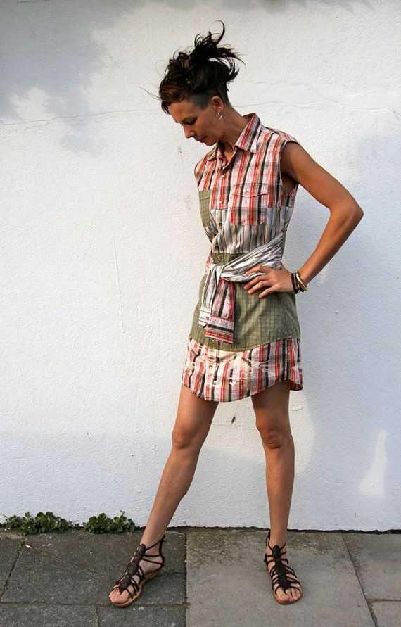 2302c825223 Как сшить платье из мужской рубашки своими руками