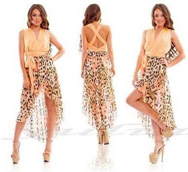 8440f162364 Платья с подолами разной длины могут стать нарядами как для вечернего