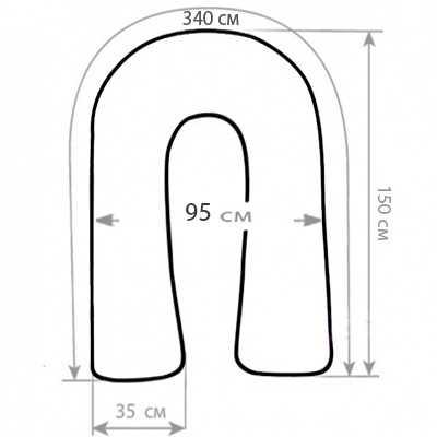 Подушка для беременных своими руками u формы 84