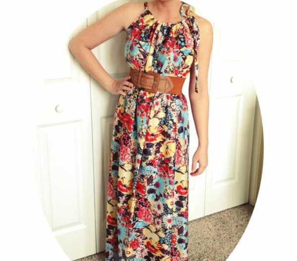 e1ccc0bd3577412 Если приобретен тонкий шифон, то из него делается красивое платье без  выкройки. Для этого следует купить две ...