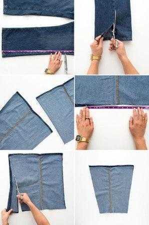 b3cd6dbda1f0 Как сшить сумку из старых джинсов своими руками выкройки
