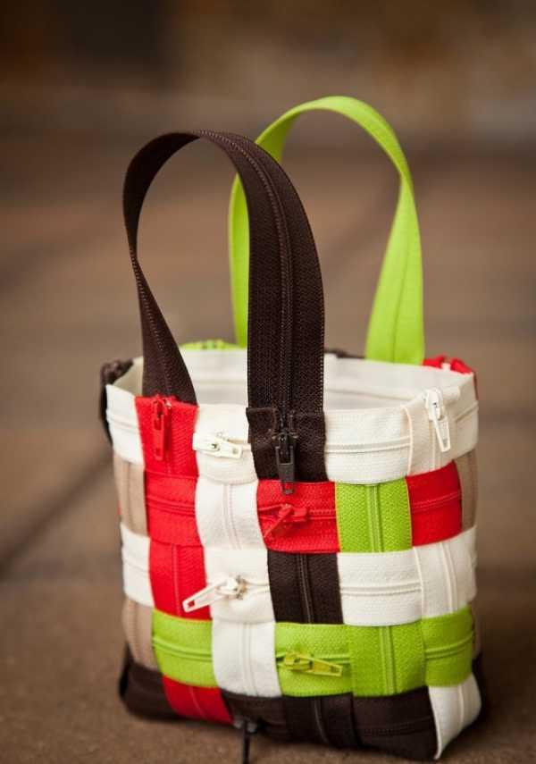 9bee5722c57f Оригинальные сумки своими руками из застежек молний