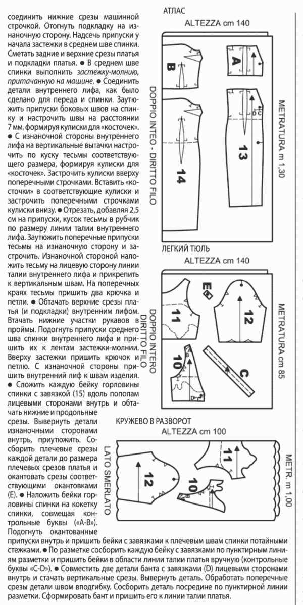 Выкройка-основа платья для скачивания от А. Корфиати 18