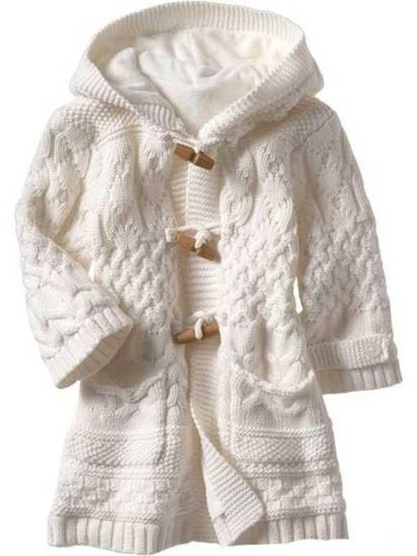 как связать пальто для девочки 2 лет спицами