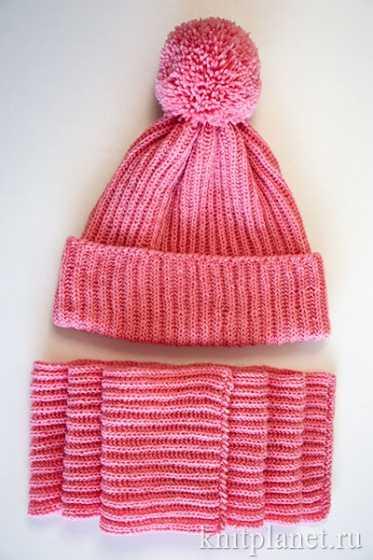 как вязать детскую шапку спицами