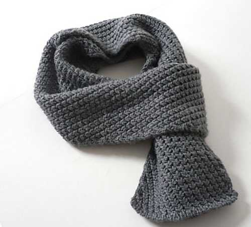 как вязать крючком шарф