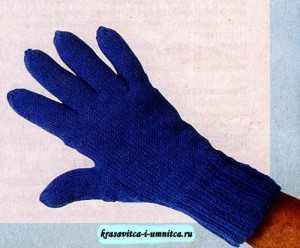 как вязать спицами перчатки