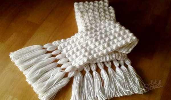 как закончить шарф спицами