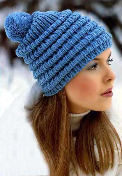 как закончить вязание шапки спицами красиво