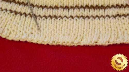 как закончить вязание спицами шарфа
