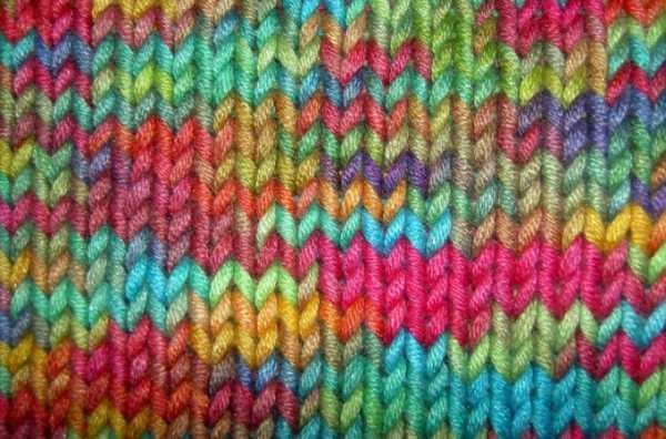 как закончить вязать шарф