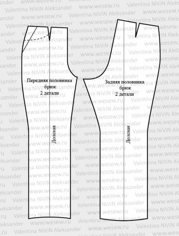 Как сшить мужские брюки поэтапно 51