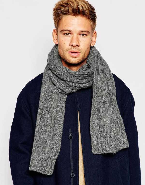мужской шарф спицами схемы