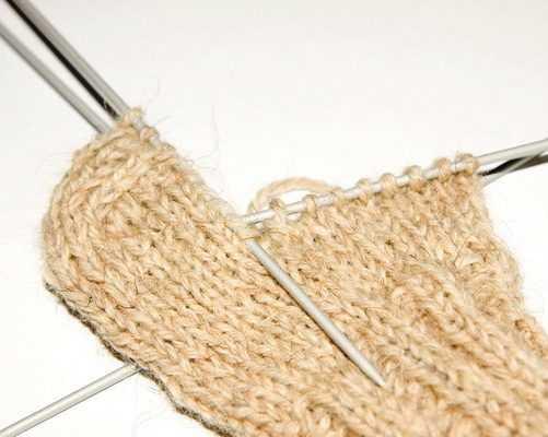 носки для начинающих спицами