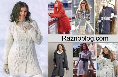 пальто вязаное спицами из толстой пряжи схемы и модели