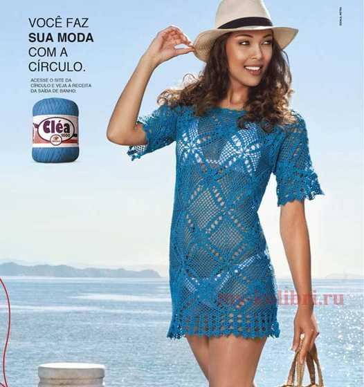 4fb50abcda2092f Простое в исполнении пляжное платье крючком из квадратных мотивов, станет  вашей любимой вещью в отпускном гардеробе. Вам нужно только определиться с  цветом ...