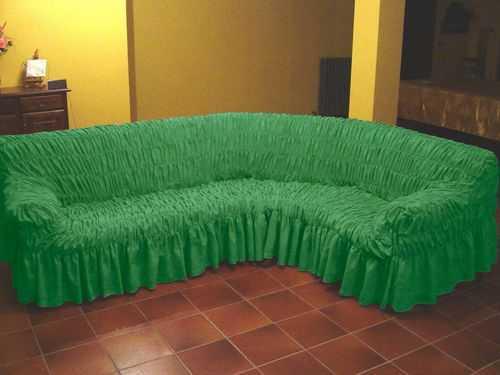 покрывало на угловой диван как сшить