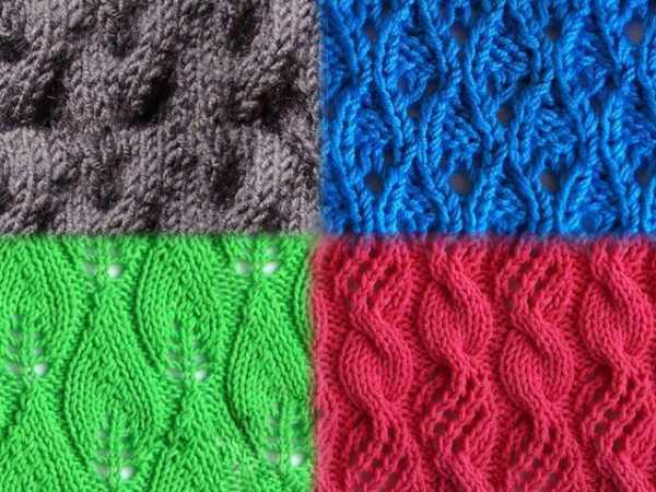 простые ажурные узоры для вязания спицами схемы с описанием