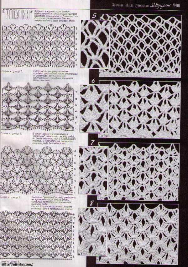Все виды вязания сетки крючком