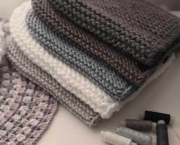 шапка бини спицами схема вязания