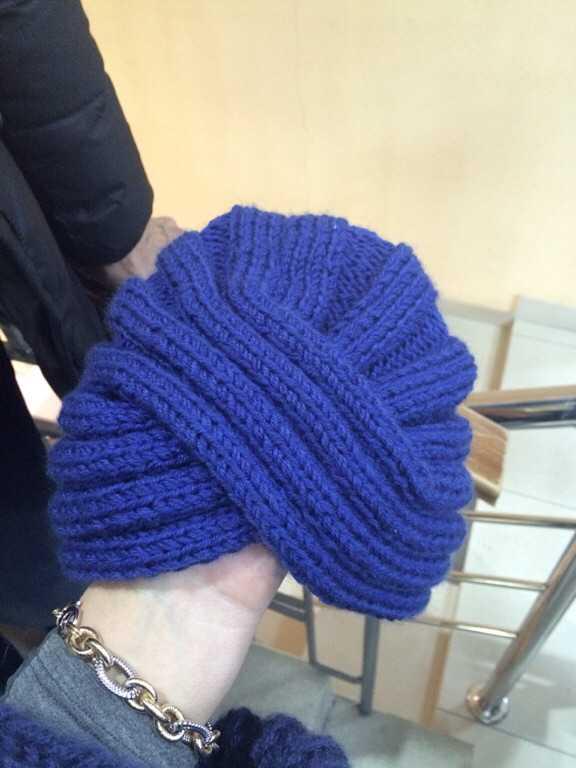 шапка чалма вязаная спицами описание