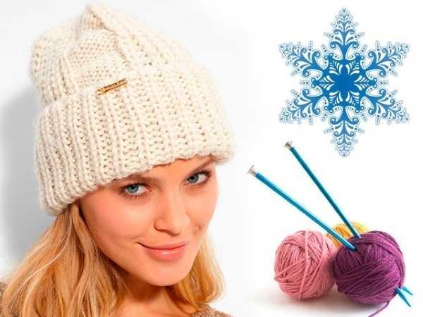шапка чулок спицами схема вязания