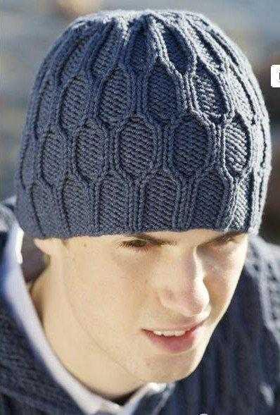 схема вязания мужской шапки