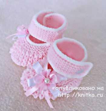 схема вязания пинетки
