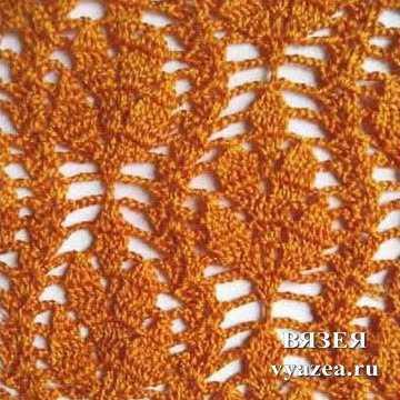 схемы вязания крючком ажурных узоров