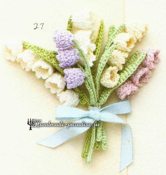 схемы вязания крючком маленьких цветочков