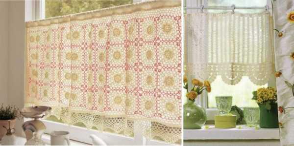 шторы на кухню крючком филейное вязание схемы Vizadaru