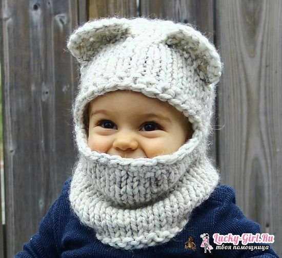 связать детскую шапочку для мальчика спицами