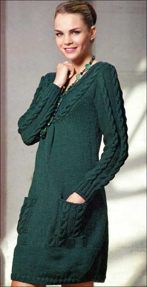Вязаные платья с косами спицами со схемами фото 518